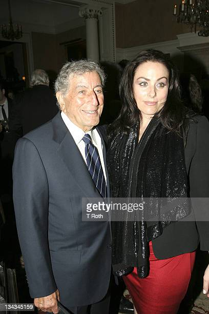 Tony Bennett and Joanna Bennett attend the 2011 Players Foundation for Theatre Education Hall of Fame Inductions at The Players Club on May 1 2011 in...
