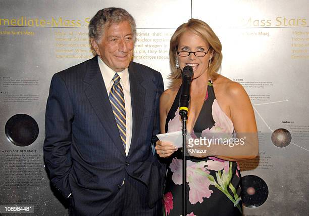 Tony Bennett and Katie Couric during Tony Bennett's 80th Birthday Party Inside in New York City New York United States