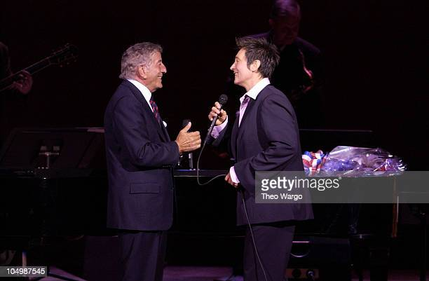 Tony Bennett and k.d. Lang during Tony Bennett Performs with k.d. Lang at Carnegie Hall at Carnegie Hall in New York City, New York, United States.