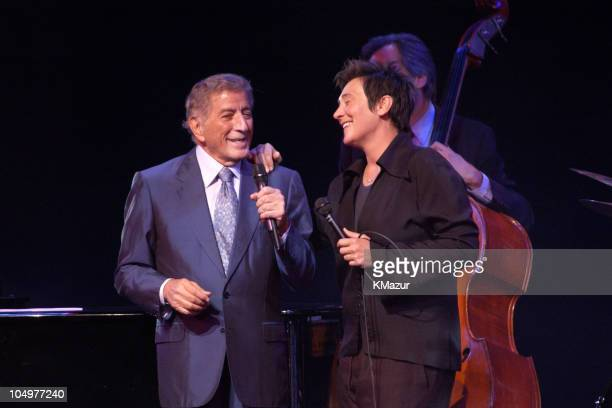 """Tony Bennett and k.d. Lang perform during Democratic National Committee's """"A Night at the Apollo"""" - Show at Harlem's World Famous Apollo Theater in..."""