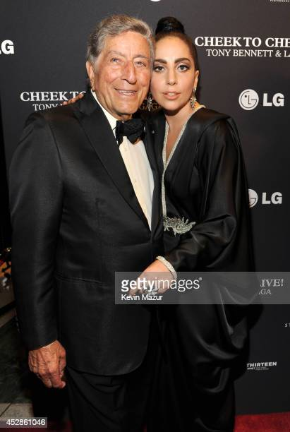 Tony Bennett and Lady Gaga arrive to their Cheek To Cheek taping at Jazz at Lincoln Center on July 28 2014 in New York City
