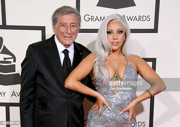 Tony Bennett and Lady Gaga attend The 57th Annual GRAMMY Awards at the STAPLES Center on February 8 2015 in Los Angeles California
