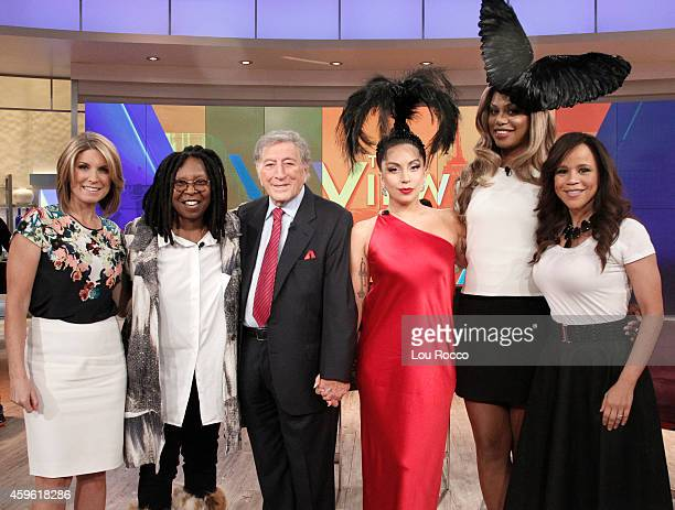 THE VIEW Tony Bennett and Lady Gaga perform from their jazz album on THE VIEW 11/26/14 airing on the Walt Disney Television via Getty Images...
