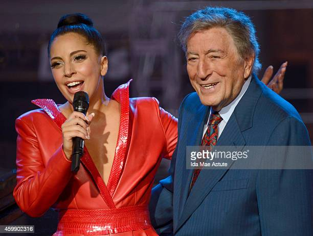 AMERICA Tony Bennett and Lady Gaga perform live on Good Morning America 12/3/14 airing on the ABC Television Network
