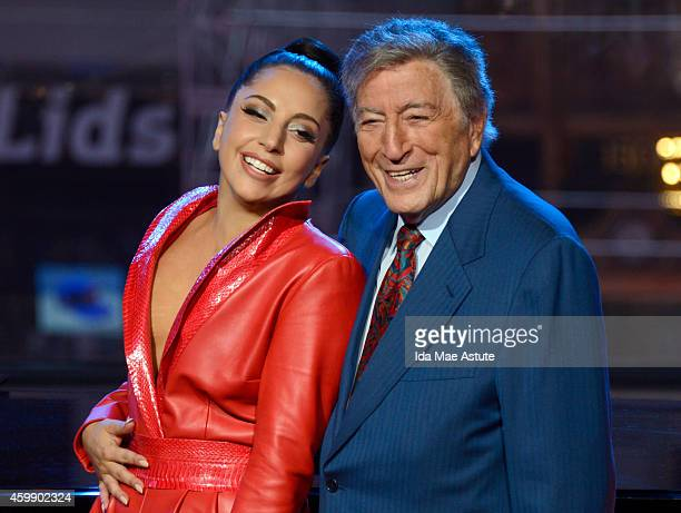 AMERICA Tony Bennett and Lady Gaga perform live on Good Morning America 12/3/14 airing on the Walt Disney Television via Getty Images Television...