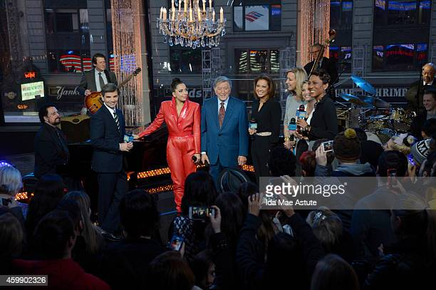 """Tony Bennett and Lady Gaga perform live on """"Good Morning America,"""" 12/3/14, airing on the Walt Disney Television via Getty Images Television Network."""