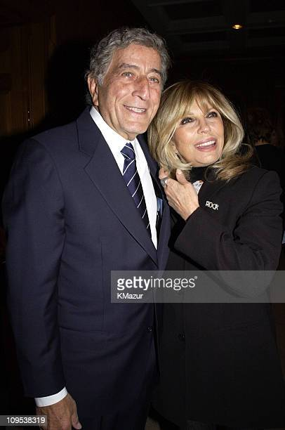 Tony Bennett and Nancy Sinatra during Tony Bennett and Columbia Records Chairman Don Ienner Host Party for Frank Sinatra School of the Arts at the...