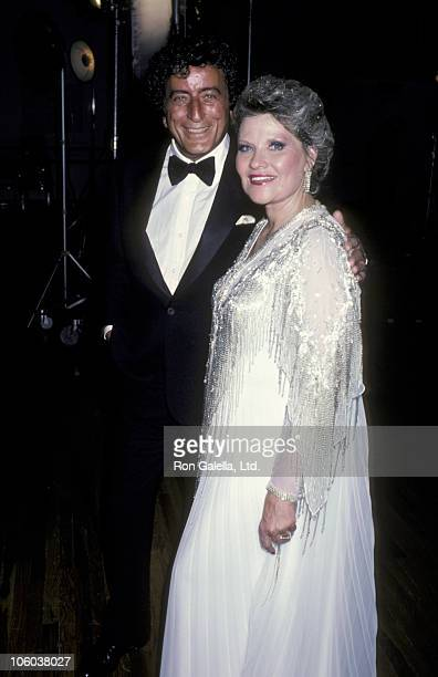Tony Bennett and Patti Page during Singers' Salute to Songwriters April 7 1986 at Dorothy Chandler Pavillion in Los Angeles California United States