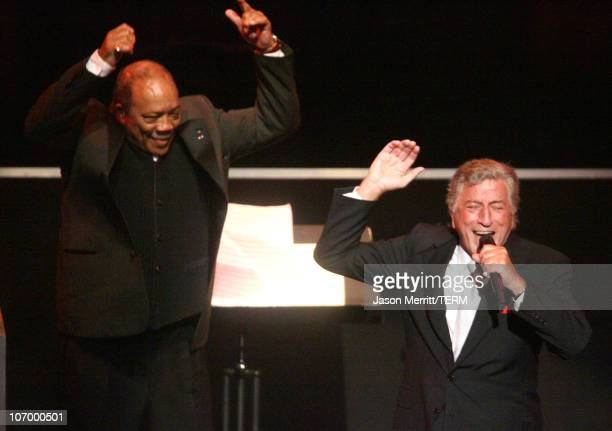 Tony Bennett and Quincy Jones during Singers and Songs Celebrate Tony Bennett's 80th to Benefit Paul Newman's Hole in the Wall Camps Show at Kodak...