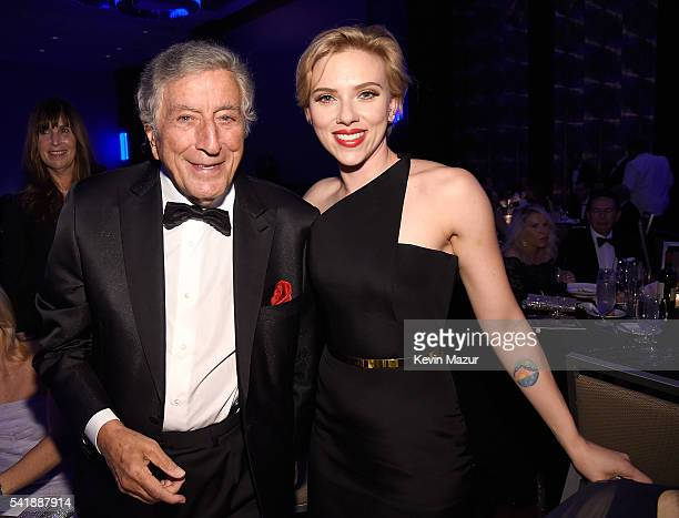 Tony Bennett and Scarlett Johansson attend Friars Club honors Tony Bennett with The Entertainment Icon Award at New York Sheraton Hotel Tower on June...