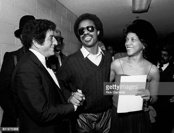 Tony Bennett and Stevie Wonder backstage during MLK Gala at The Atlanta Civic Center in Atlanta Georgia January 13 1982