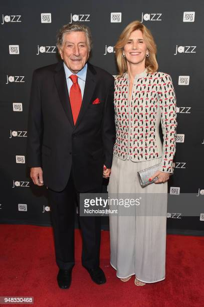 Tony Bennett and Susan Benedetto attend Jazz At Lincoln Center's 30th Anniversary Gala at Jazz at Lincoln Center on April 18 2018 in New York City