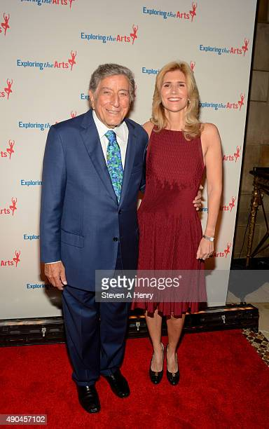 Tony Bennett and Susan Benedetto attend the 9th Annual Exploring the Arts Gala at Cipriani 42nd Street on September 28 2015 in New York City