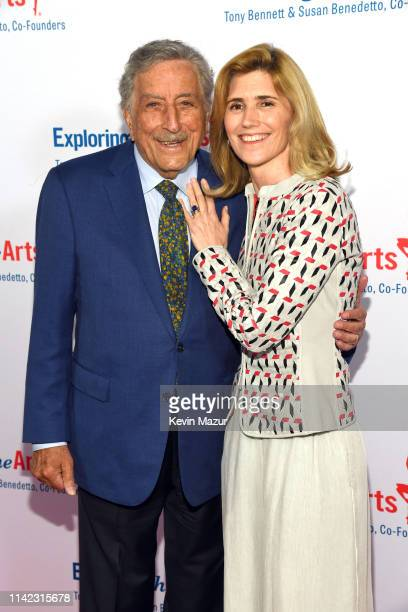 Tony Bennett and Susan Benedetto celebrate the 20th Anniversary of Exploring the Arts on April 12 2019 in New York City