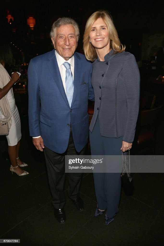 Tony Bennett and Susan Bennett attend 'The Immortal Life Of Henrietta Lacks' New York Premiere - After Party at TAO Downtown on April 18, 2017 in New York City.