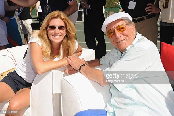 Tony Bennett and Susan Bennett attend Tony Bennett's AllStar Tennis Event at Cliff Drysdale Tennis Center Ritz Carlton KeyBiscayne on March 19 2012...