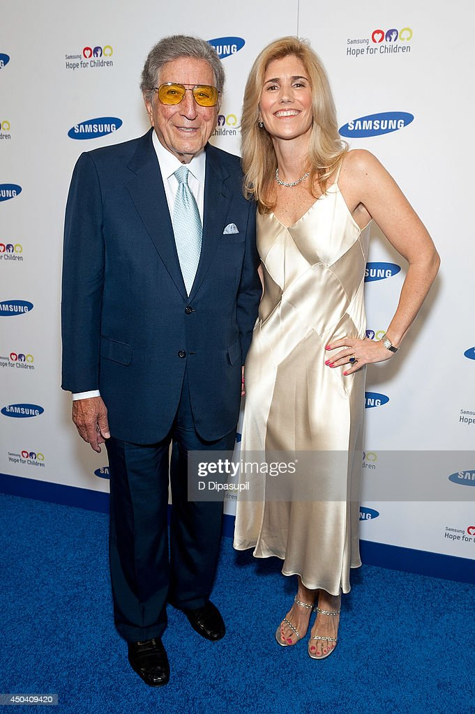 Tony Bennett (L) and Susan Crow attend the 13th Annual Samsung Hope For Children Gala at Cipriani Wall Street on June 10, 2014 in New York City.