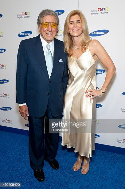 Tony Bennett and Susan Crow attend the 13th Annual Samsung Hope For Children Gala at Cipriani Wall Street on June 10 2014 in New York City