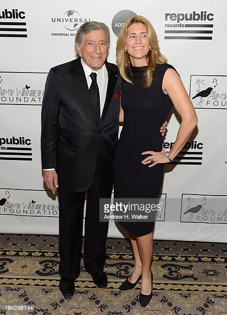 Tony Bennett and Susan Crow attend the 2013 Amy Winehouse Foundation Inspiration Awards and Gala at The Waldorf=Astoria on March 21 2013 in New York...