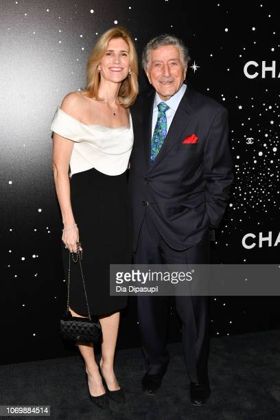 Tony Bennett and Susan Crow attend the 2018 Museum of Modern Art Film Benefit A Tribute To Martin Scorsese at Museum of Modern Art on November 19...