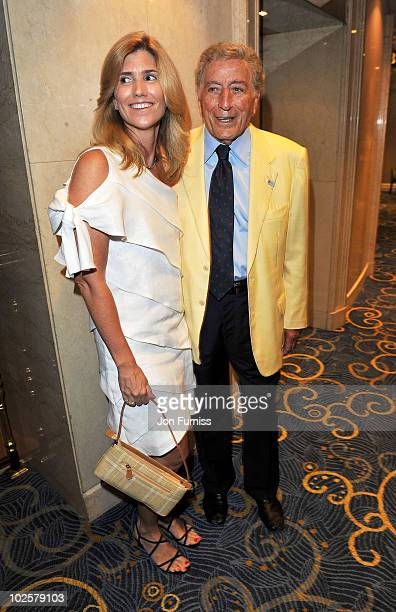 Tony Bennett and Susan Crow attend the 35th Nordoff Robbins 02 Silver Clef Awards at London Hilton on July 2 2010 in London England