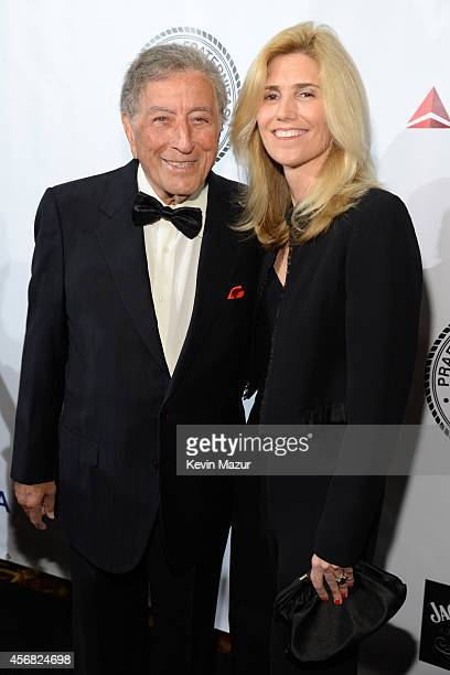 Tony Bennett and Susan Crow attend the Friars Foundation Gala honoring Robert De Niro and Carlos Slim at The Waldorf=Astoria on October 7 2014 in New...
