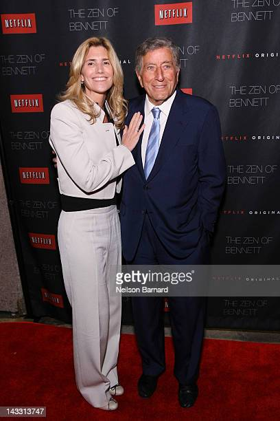 Tony Bennett and Susan Crow attend the Netflix World Premiere of The Zen of Bennett at The Tribeca Film Festival afterparty at Tribeca Grill on April...