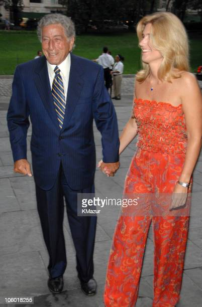 Tony Bennett and Susan Crow attend the Target celebration for Tony Bennett's 80th birthday