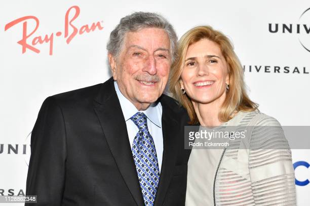 Tony Bennett and Susan Crow attend the Universal Music Group's 2019 After Party To Celebrate The GRAMMYs at ROW DTLA on February 10 2019 in Los...