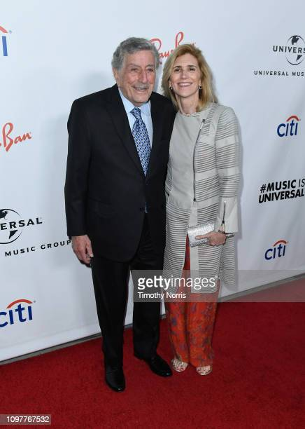 Tony Bennett and Susan Crow attend Universal Music Group's 2019 After Party Presented by Citi Celebrates The 61st Annual Grammy Awards on February 9...