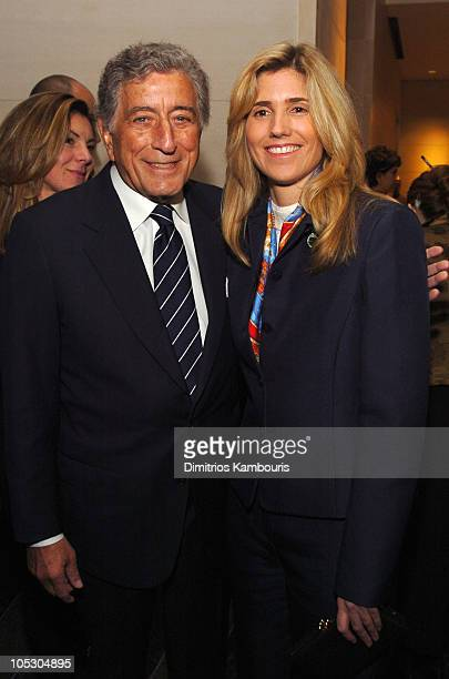 Tony Bennett and Susan Crow during Benefit for NYC Company at Mandarin Oriental Hotel in New York City New York United States