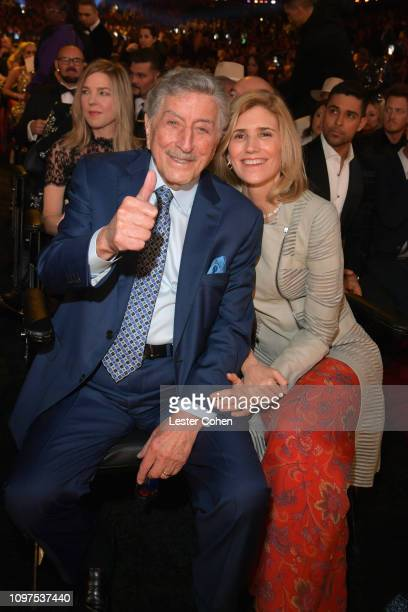 Tony Bennett and Susan Crow during the 61st Annual GRAMMY Awards at Staples Center on February 10 2019 in Los Angeles California
