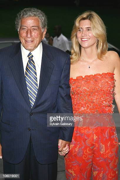 Tony Bennett and Susan Crow during Tony Bennett's 80th Birthday Celebration Arrivals at Museum of Natural History in New York New York United States