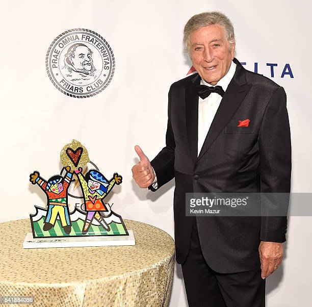 Tony Bennett attends Friars Club honors Tony Bennett with The Entertainment Icon Award at New York Sheraton Hotel & Tower on June 20, 2016 in New...
