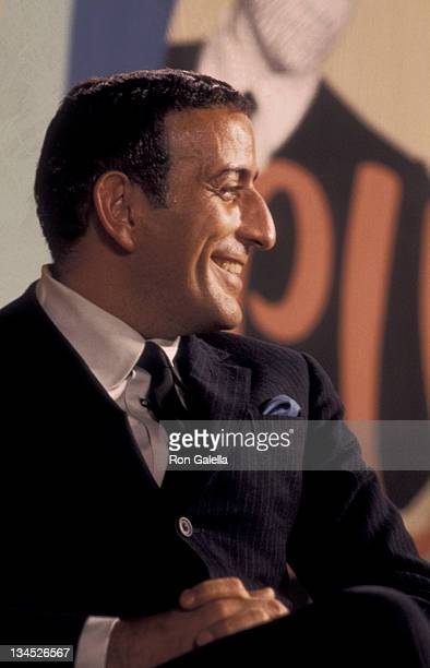 Tony Bennett attends Second Annual Jerry Lewis Muscular Dystrophy Telethon on October 3 1967 at the Americana Hotel in New York City
