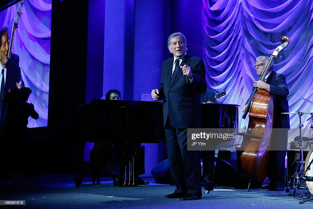 Tony Bennett attends the Clinton Global Citizen Awards during the second day of the 2015 Clinton Global Initiative's Annual Meeting at the Sheraton New York Hotel & Towers on September 27, 2015 in New York City.