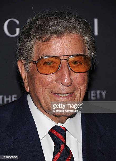 Tony Bennett attends the Gucci Cinema Society the Film Foundation screening of 'La Dolce Vita' at the Tribeca Grand Hotel on June 1 2011 in New York...