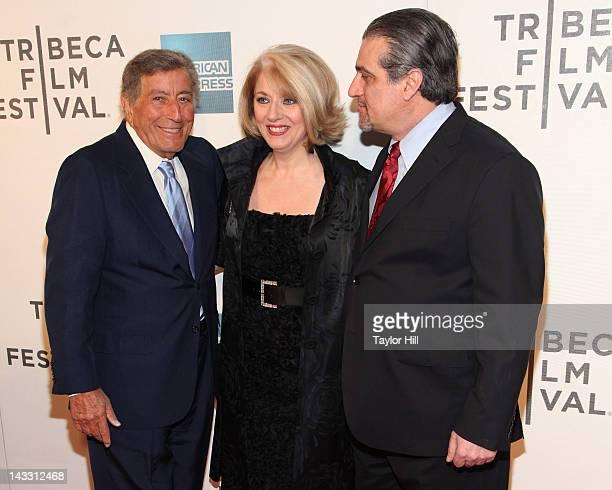Tony Bennett Cynthia Germanotta and Joe Germanotta attend the premiere of Zen of Bennett during the 2012 Tribeca Film Festival at BMCC Tribeca PAC on...