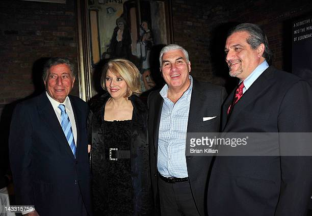 Tony Bennett Cynthia Germanotta Joe Germanotta and Mitch Winehouse attend the after party for the premiere of Zen of Bennett during the 2012 Tribeca...
