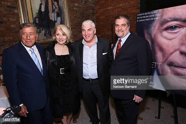 "Tony Bennett, Cynthia Germanotta, Mitch Winehouse and Joe Germanotta attend the Netflix World Premiere of ""The Zen of Bennett"" at The Tribeca Film..."