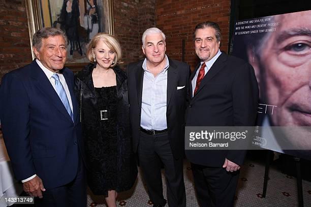 Tony Bennett Cynthia Germanotta Mitch Winehouse and Joe Germanotta attend the Netflix World Premiere of The Zen of Bennett at The Tribeca Film...