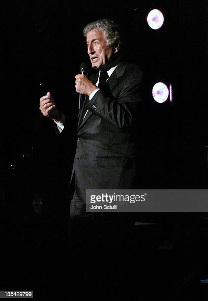 Tony Bennett during The Larry King Cardiac Foundation Gala at The Regent Beverly Wilshire Hotel in Beverly Hills, California, United States.