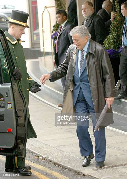 Tony Bennett during Tony Bennett Sighting at The Dorchester Hotel April 7 2005 at Dorchester Hotel in London Great Britain