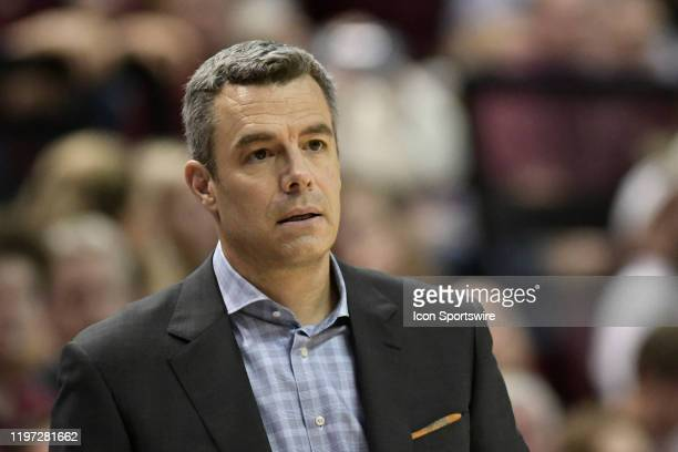 Tony Bennett head men's basketball coach University of Virginia Cavaliers watches play against the Florida State Seminoles Wednesday January 15 in...