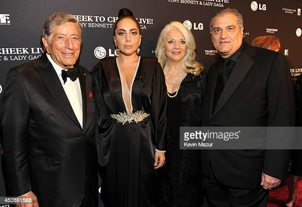 Tony Bennett Lady Gaga Cynthia Germanotta and Joe Germanotta arrive to Tony Bennett and Lady Gaga Cheek To Cheek taping at Jazz at Lincoln Center on...