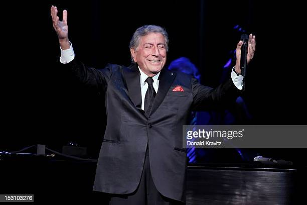 Tony Bennett performs in concert at The Borgata Event Center on September 29 2012 in Atlantic City New Jersey