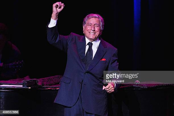 Tony Bennett performs on stage at the Paramount Theater on November 6 2014 in Seattle Washington