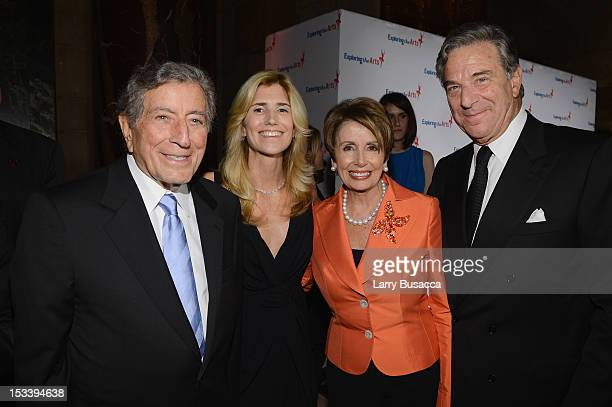 Tony Bennett Susan Benedetto Representative Nancy Pelosi and Paul Pelosi attend the 6Th Annual Exploring the Arts Gala hosted by Tony Bennett And...