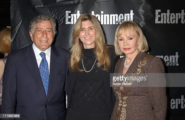 Tony Bennett with girlfriend Susan Crow and Iris Cantor