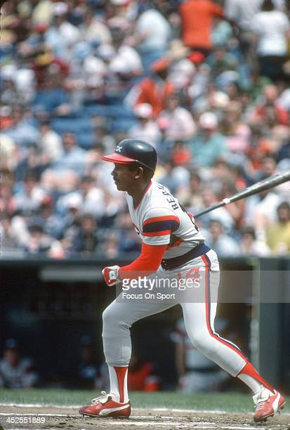 Tony Bernazard of the Chicago White Sox bats against the Baltimore Orioles during an Major League Baseball game circa 1982 at Memorial Stadium in...